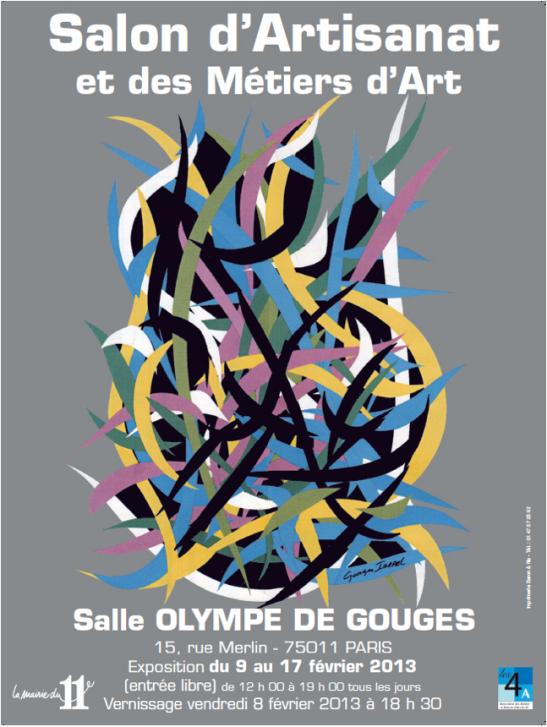 Affiche du Salon de l'Artisanat et des Métiers d'Art Paris 11ème