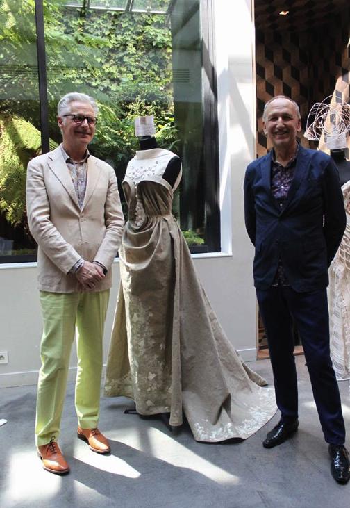 Création Martin Letz pour Ultralin avec les pièces céramiques de Fanny Acquart Gensollen