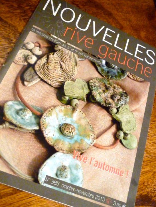 Un collier de Fanny en couverture de Nouvelles Rive Gauche