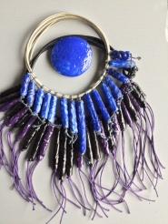 Colliers tubes bleu et violet