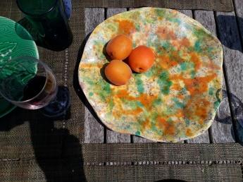 Assiette abricots Fanny Acquart Gensollen 2018